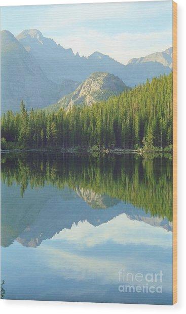 Bear Lake Estes Park Wood Print