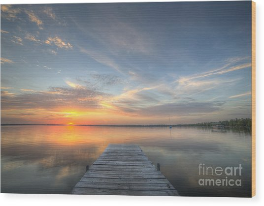 Bear Lake Sunset Wood Print by Twenty Two North Photography