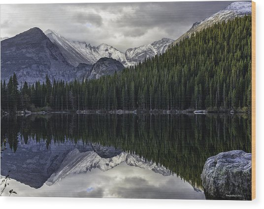 Bear Lake Wood Print by Tom Wilbert