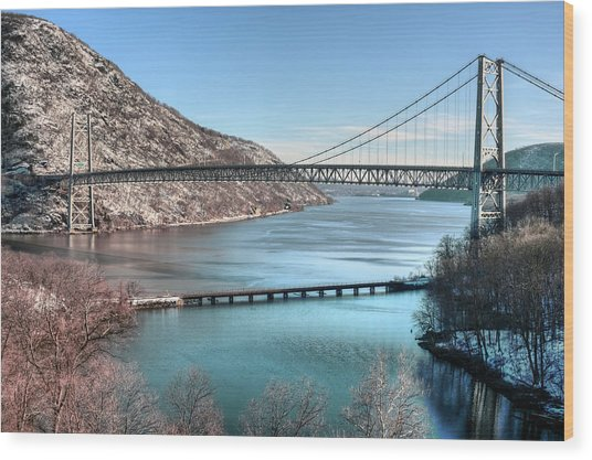 Bear Mountain Bridge Wood Print by JC Findley
