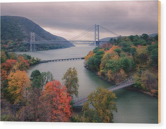 Bear Mountain Bridge Wood Print