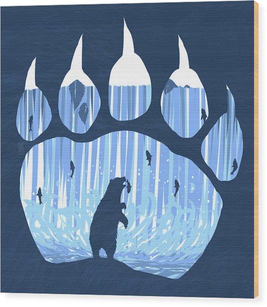 Bear Paw Wood Print