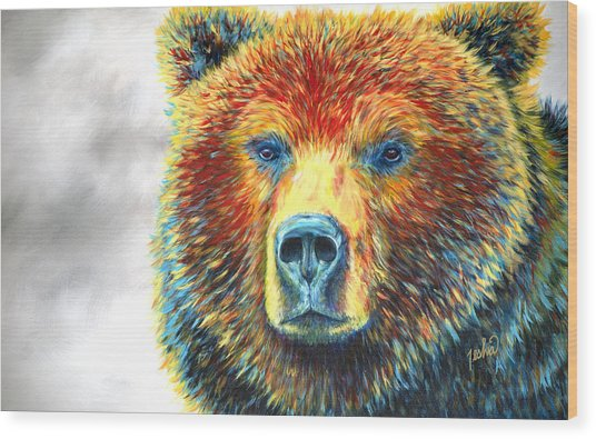 Bear Thoughts Wood Print