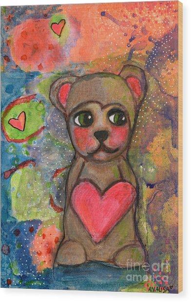 Bear With Me Wood Print