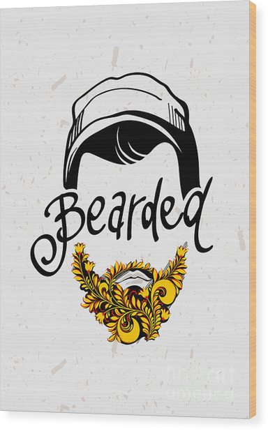 Beard And Mustache. Traditional Russian Wood Print