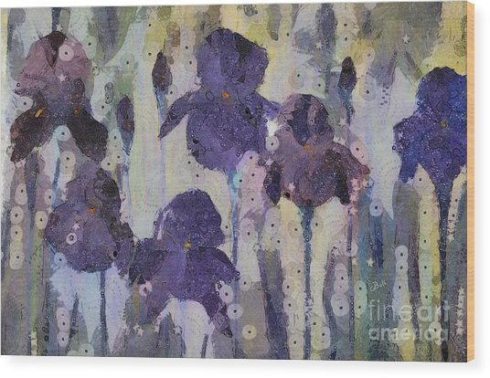 Bearded Irises Wood Print