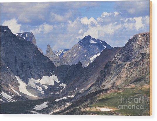 Beartooth Mountain Wood Print