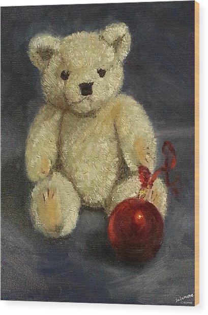 Beary Christmas Wood Print