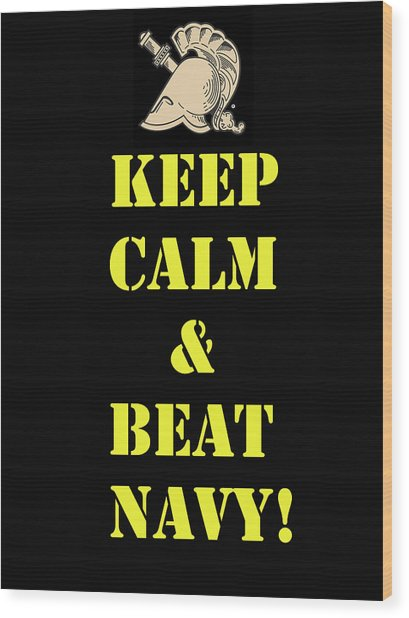 Beat Navy Wood Print