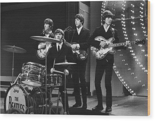 Beatles 1966 50th Anniversary Wood Print