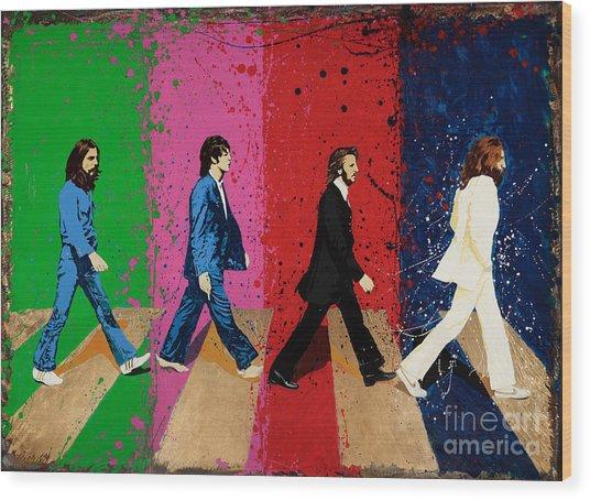 Beatles Crossing Wood Print