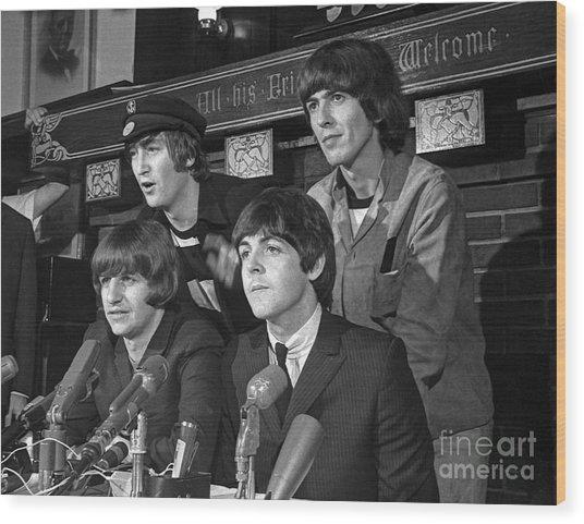 Beatles In Chicago Wood Print