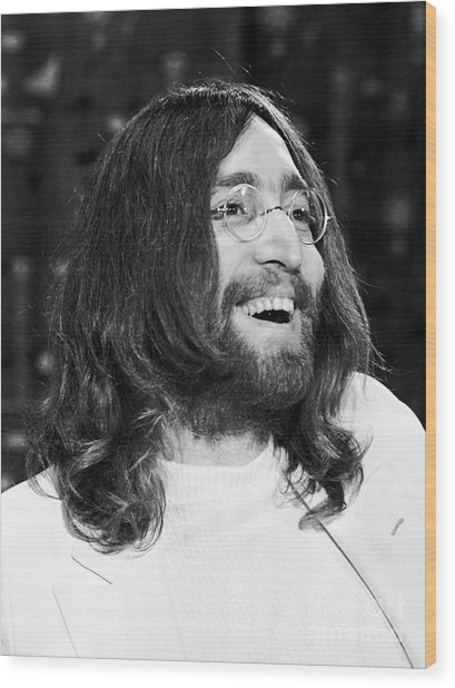 Beatles John Lennon 1969 Wood Print