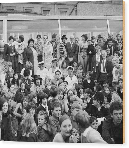 Beatles Magical Mystery Tour 1967 Wood Print