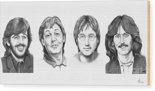 Beatles Wood Print