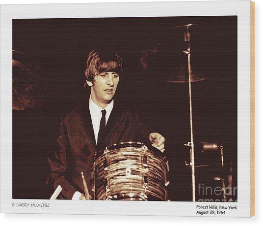 Beatles Ringo Color Wood Print