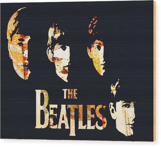 Beatles Wood Print by Trisha Buchanan