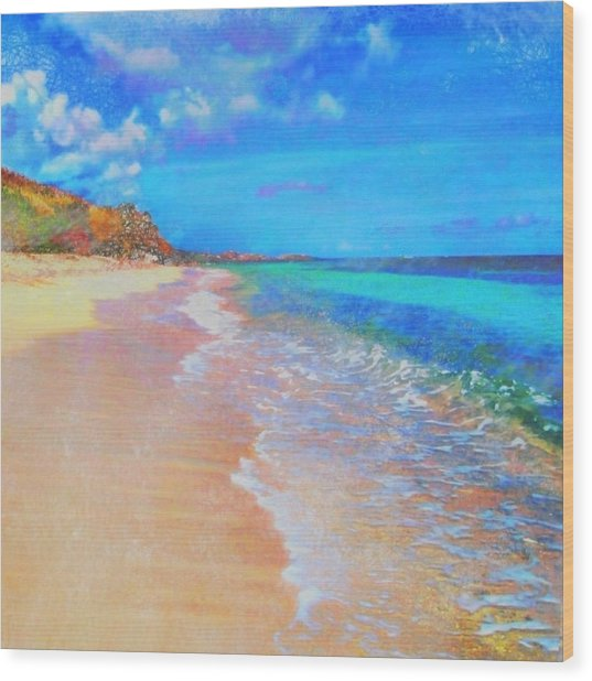 Beauregard Beach - Square Wood Print