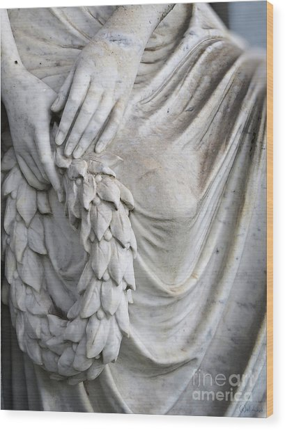 Beautiful Angel Healing Touch Wood Print