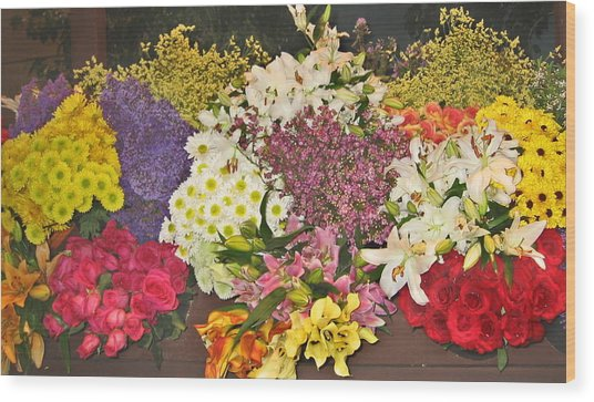 Beautiful Blooms Wood Print