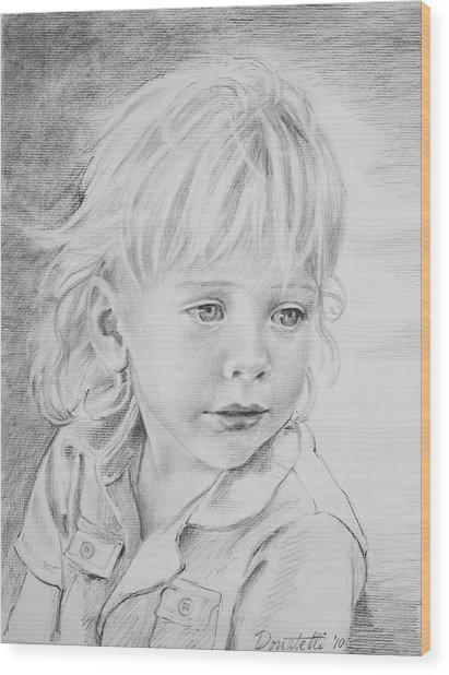 Beautiful Boy Wood Print