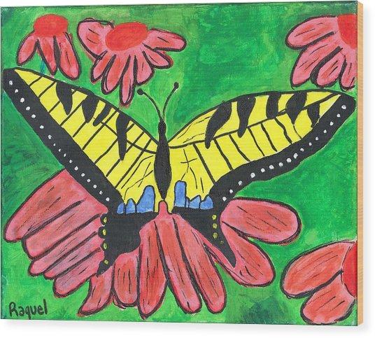 Tiger Swallowtail Butterfly Wood Print by Raqul Chaupiz