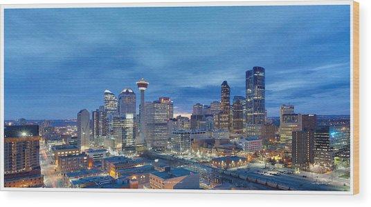 Beautiful Calgary Alberta Wood Print