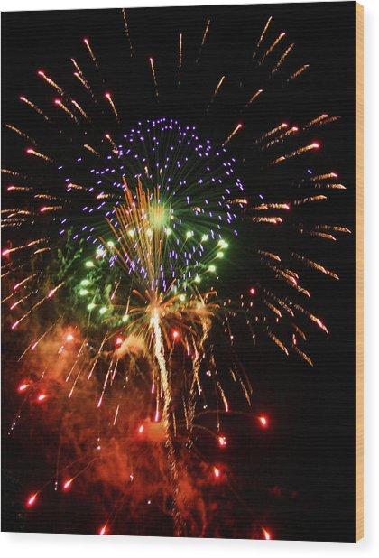 Beautiful Fireworks Works Wood Print