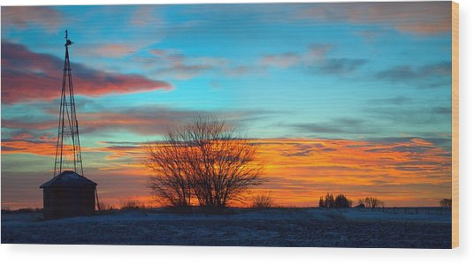 Beautiful Mornin' Panorama Wood Print