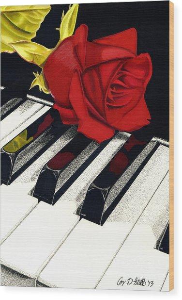 Beautiful Music Wood Print