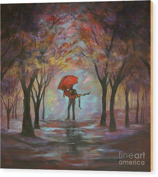 Beautiful Romance Wood Print