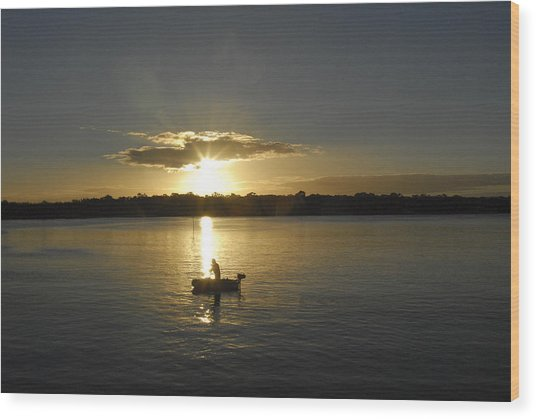 Beautiful Sunset Wood Print by David Yack
