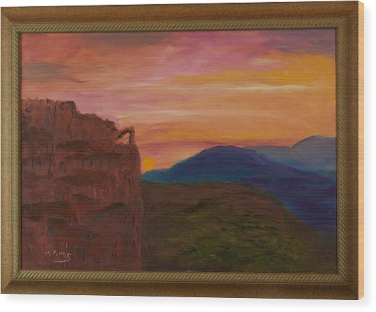 Beautiful Sunset Wood Print by Margaret Pappas