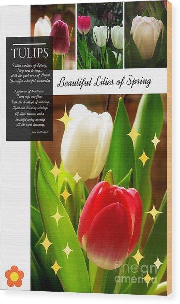 Beautiful Tulip Series 1 Wood Print