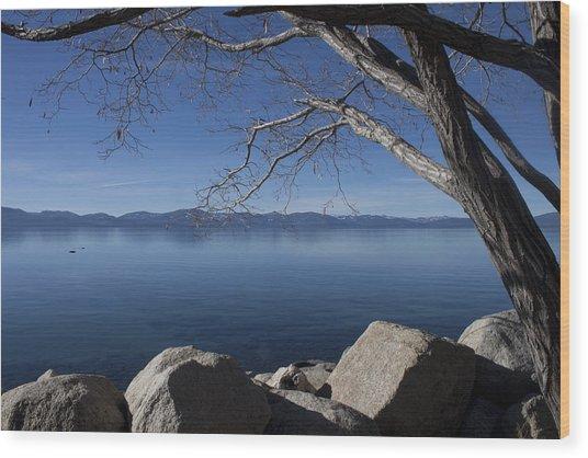 Beautiful View Of Lake Tahoe Wood Print