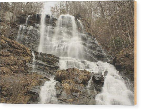 Beautiful Waterfall Wood Print