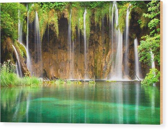 Waterfall Lagoon - Nature Photography Wood Print