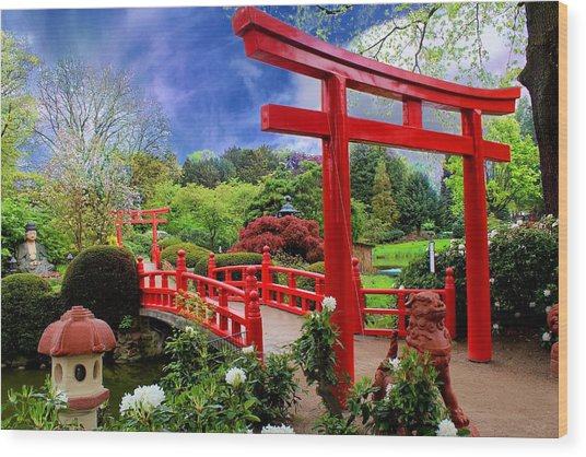 Beautiful Zen Garden Wood Print