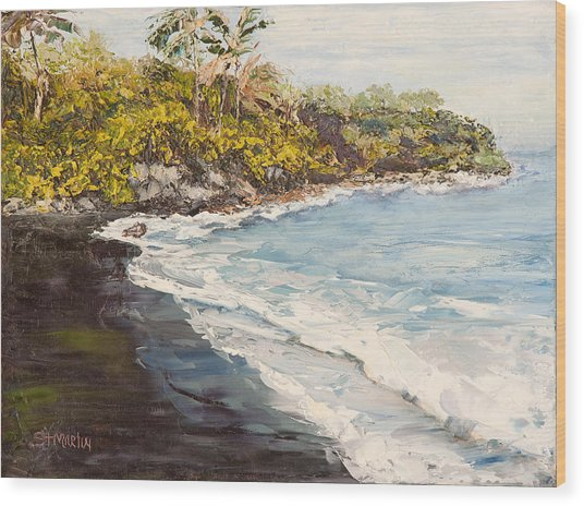 Beauty And The Beach Wood Print by Annie St Martin