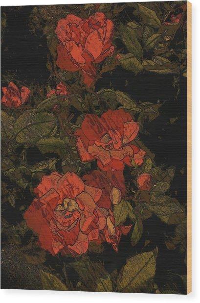 Beauty De Vine Wood Print by Kiara Reynolds