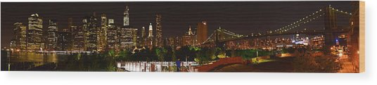 Beauty From Brooklyn Bridge Park Wood Print