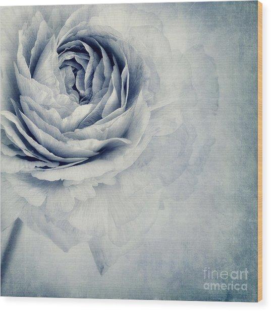 Beauty In Blue Wood Print