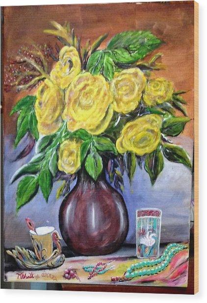 Beauty In Yellow Wood Print by M Bhatt
