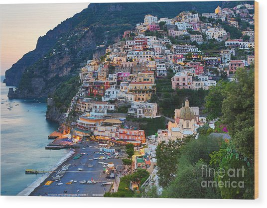 Beauty Of The Amalfi Coast  Wood Print