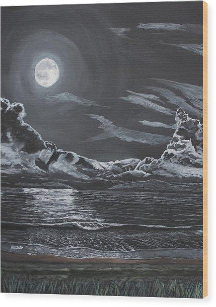 Beauty Of The Night Wood Print