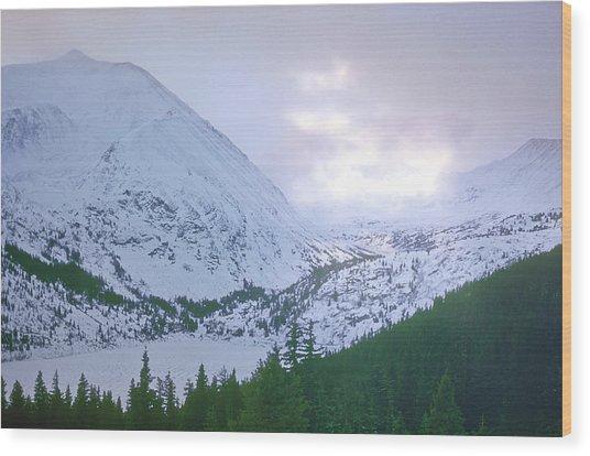 Beauty Of The Rockies Wood Print