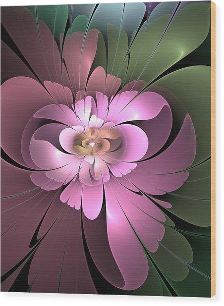 Beauty Queen Of Flowers Wood Print