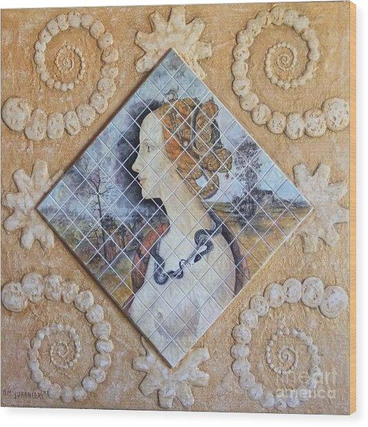 Beauty - Simonetta Cattaneo Wood Print by Anna Maria Guarnieri
