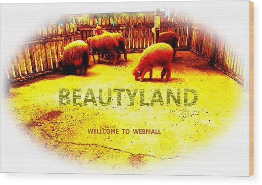 Beautyland Wood Print