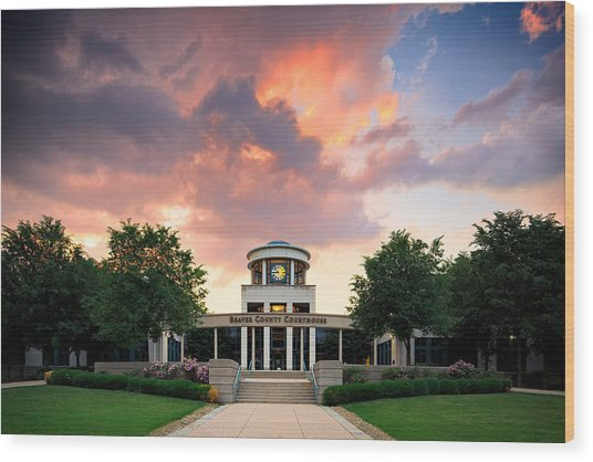 Beaver County Courthouse Wood Print